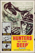 """Movie Posters:Documentary, Hunters of the Deep (DCA, 1955). One Sheet (27"""" X 41""""). Documentary.. ..."""