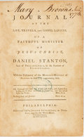 Books:Biography & Memoir, [Daniel Stanton]. A Journal of the Life, Travels, and GospelLabours, of a Faithful Minister of Jesus Christ, et al. ...