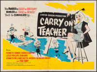 "Carry on Teacher (Anglo Amalgamated, 1959). British Quad (29.75"" X 39.5""). Comedy"