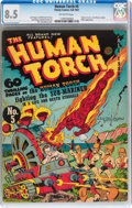 Golden Age (1938-1955):Superhero, The Human Torch #5 (Timely, 1941) CGC VF+ 8.5 Off-white pages....
