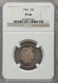 Proof Barber Quarters, 1902 25C PR66 NGC....