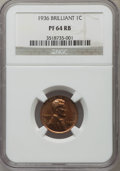 Proof Lincoln Cents: , 1936 1C Type Two--Brilliant Finish PR64 Red and Brown NGC. NGC Census: (42/17). PCGS Population (115/6). Mintage: 5,569. Nu...