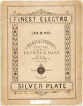 Books:Food & Wine, [Eating Utensils]. Finest Electro Silver Plate. Taunton: Reed &Barton, 1881. Illustrated appendix and price list. Folio. Pu...