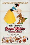 """Movie Posters:Animation, Snow White and the Seven Dwarfs (Buena Vista, R-1967). One Sheet(27"""" X 41"""") Style A. Animation.. ..."""