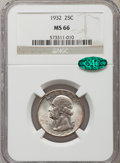 Washington Quarters: , 1932 25C MS66 NGC. CAC. NGC Census: (92/2). PCGS Population(198/3). Mintage: 5,404,000. Numismedia Wsl. Price for problem ...