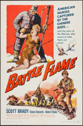 "Movie Posters:War, Battle Flame & Other Lot (Allied Artists, 1959). One Sheets (2)(27"" X 41""). War.. ... (Total: 2 Items)"