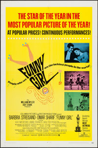 "Funny Girl & Other Lot (Columbia, 1968). One Sheets (2) (27"" X 41"") Academy Award Style & Regu..."