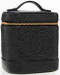 Luxury Accessories:Travel/Trunks, Chanel Black Caviar Leather CC Cosmetic Case. ...