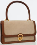 Luxury Accessories:Bags, Hermes Gold Courchevel Leather & Toile Sac Ring with GoldHardware. ...