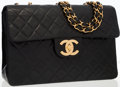 Luxury Accessories:Bags, Chanel Black Quilted Lambskin Leather Maxi Single Flap Bag withGold Hardware . ...