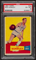 Basketball Cards:Singles (Pre-1970), 1957 Topps Rod Hundley #43 PSA EX-MT 6....