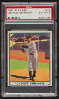 Baseball Cards:Singles (1940-1949), 1941 Play Ball Charley Gehringer #19 PSA EX-MT 6....