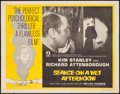 "Movie Posters:Crime, Seance on a Wet Afternoon (Rank, 1964). Half Sheet (22"" X 28""). Crime.. ..."