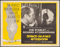 """Seance on a Wet Afternoon (Rank, 1964). Half Sheet (22"""" X 28""""). Crime"""