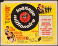 """Movie Posters:Rock and Roll, Teenage Millionaire (United Artists, 1961). Half Sheet (22"""" X 28"""").Rock and Roll.. ..."""