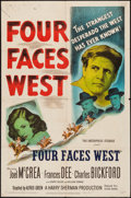 """Movie Posters:Western, Four Faces West (United Artists, 1948/Favorite Attractions, R-1953). One Sheet (27"""" X 41"""") & Lobby Cards (6) (11"""" X 14""""). We... (Total: 7 Items)"""