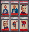 "Hockey Cards:Lots, 1955 Quaker Oats/Parkhurst ""Oldtime Greats"" PSA Graded Group (6)...."