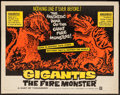 "Movie Posters:Science Fiction, Gigantis the Fire Monster (Warner Brothers, 1959). Half Sheet (22""X 28""). Science Fiction.. ..."