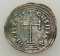 Ancients:Byzantine, Ancients: Constantine VI and Irene (AD 780-797). AR miliaresion(23mm, 2.29 gm, 12h)....