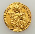 Ancients:Byzantine, Ancients: Basil I the Macedonian (AD 867-886), with Constantine. AVsolidus (4.37 gm)....
