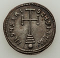 Ancients:Byzantine, Ancients: Basil I the Macedonian (AD 867-886), with Constantine.Lot of two (2) AR miliaresions.... (Total: 2 coins)