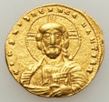 Ancients:Byzantine, Ancients: Nicephorus II Phocas (AD 963-969), with Basil II. AVhistamenon nomisma (19mm, 4.36 gm, 6h). ...