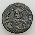 Ancients:Byzantine, Ancients: Basil I - Leo VI (AD 867-912). Lot of two (2) Æfolles.... (Total: 2 coins)