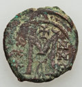 Ancients:Byzantine, Ancients: Heraclius - Leo V (AD 610-820). Lot of four (4) Æcoins. ... (Total: 4 coins)