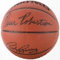 Basketball Collectibles:Balls, NBA At 50 Multi Signed Basketball (Signed By 5)....