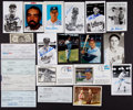 Autographs:Post Cards, Baseball Greats Signed Checks, Postcards, Etc. Lot Of 20...