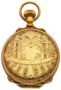 Timepieces:Pocket (post 1900), U.S. Watch Co. At Waltham 10k Gold Hunter's Box Hinged Hunter's Case. ...