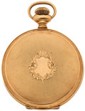 Timepieces:Pocket (post 1900), Elgin 14k Gold Hunter's Case For Parts Or Repair. ...