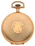 Timepieces:Pocket (post 1900), Waltham 15 Jewel Gold Filled Hunter's Case. ...
