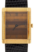 Timepieces:Wristwatch, Lady's Piaget 18k Gold Tiger's Eye Dial Wristwatch. ...