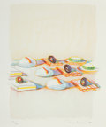 Prints:Contemporary, WAYNE THIEBAUD (American, b. 1920). Appetizers (from ThePhysiology of Taste series), 1994. Lithograph incolors...