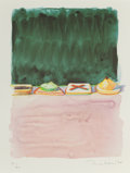 Prints:Contemporary, WAYNE THIEBAUD (American, b. 1920). Hors d'oeuvres (fromThe Physiology of Taste series), 1994. Lithograph inco...