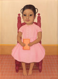 Latin American:Contemporary, GUSTAVO MONTOYA (Mexican, 1905-2003). Nina con Libro, 1969.Oil on canvas. 24-1/4 x 18 inches (61.6 x 45.7 cm). Signed l...