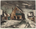 Prints:European Modern, MAURICE DE VLAMINCK (French, 1876-1958). Village sous la neige(by Guy Spitzer). Heliogravure. 24-3/8 x 30-3/4 inches (6...