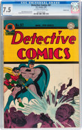 Golden Age (1938-1955):Superhero, Detective Comics #97 Double Cover (DC, 1945) CGC VF- 7.5 Off-white to white pages....