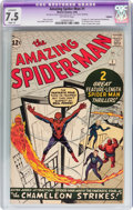 Silver Age (1956-1969):Superhero, The Amazing Spider-Man #1 (Marvel, 1963) CGC Apparent VF- 7.5 Slight (A) Off-white pages....