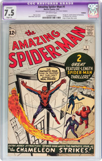 The Amazing Spider-Man #1 (Marvel, 1963) CGC Apparent VF- 7.5 Slight (A) Off-white pages