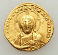 Ancients:Byzantine, Ancients: Constantine VII Porphyrogenitus (AD 913-959), withRomanus II (AD 945-963). AV solidus (19mm, 4.29 gm, 6h). ...