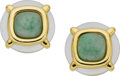 Estate Jewelry:Earrings, Aldo Cipullo for Cartier Idocrase, Rock Crystal Quartz, GoldEarrings. ...