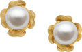 Estate Jewelry:Earrings, Henry Dunay South Sea Cultured Pearl, Gold Earrings. ...
