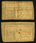Colonial Notes:New Jersey, New Jersey March 25, 1776 1s Two Notes Good.. ... (Total: 2 notes)