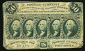 Fractional Currency:First Issue, Fr. 1313SP 50¢ Glued Pair First Issue About New.. ...
