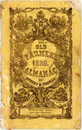 Books:Americana & American History, [Almanac]. Robert Thomas. The Old Farmer's Almanac, No. 88.Worcester: Edward Whitney, 1880. Twelvemo. Publisher's p...