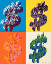 ANDY WARHOL (American, 1928-1987) $ (Quadrant), 1982 Screenprint in colors on Lenox Museum Board