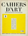 Books:Art & Architecture, [Periodical]. CAHIERS D'ART. 4. 6e ANNEE 1931.. Paris: Cahiers D'Art, 1931. First Edition. Quarto; pp173-228; printed wraps ...