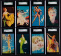"Non-Sport Cards:Sets, 1940's Mutoscope ""All-American Girls"" Near Set (24/32+3) - WithRare Welcome Marines/With Hat!..."